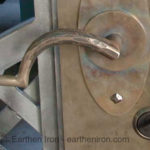 Fordged Gate Handle Close Up
